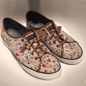 Rare Sperry Mermaid Cream Boat Shoes